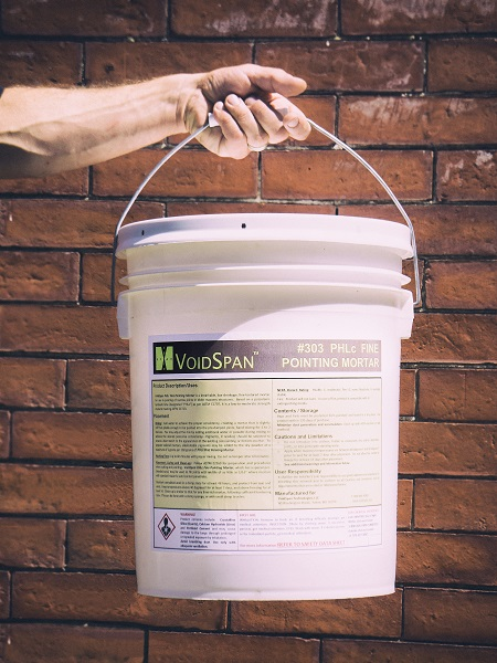Pail of Voidspan 300 Series Fine Pointing Mortar